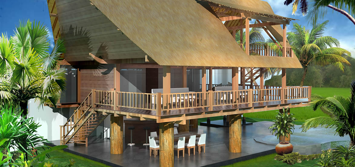 indonesian house wood design