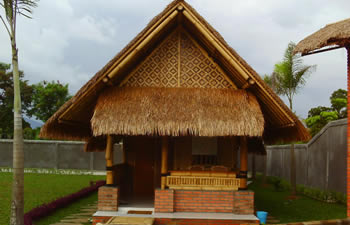 Bamboo Wooden House In Indonesia