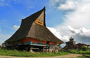 batak karo wooden house